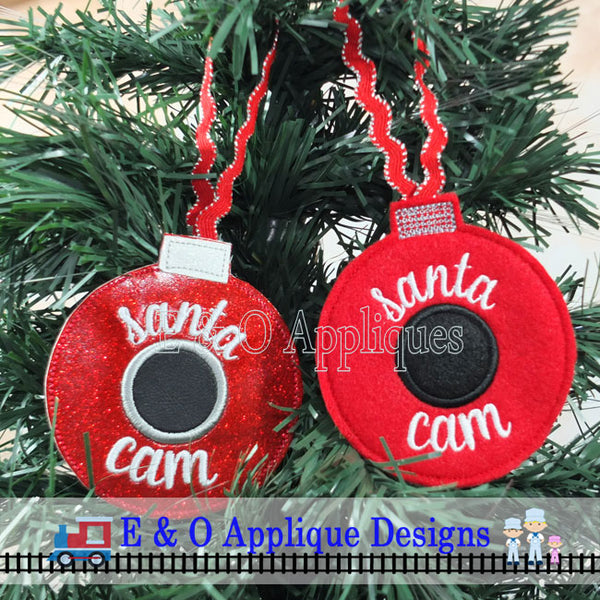 Santa Cam In The Hoop Ornament Digital Embroidery Design
