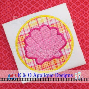 Seashell Circle Digital Applique Design