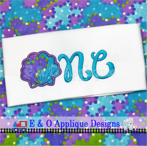Seashell One Digital Applique Design