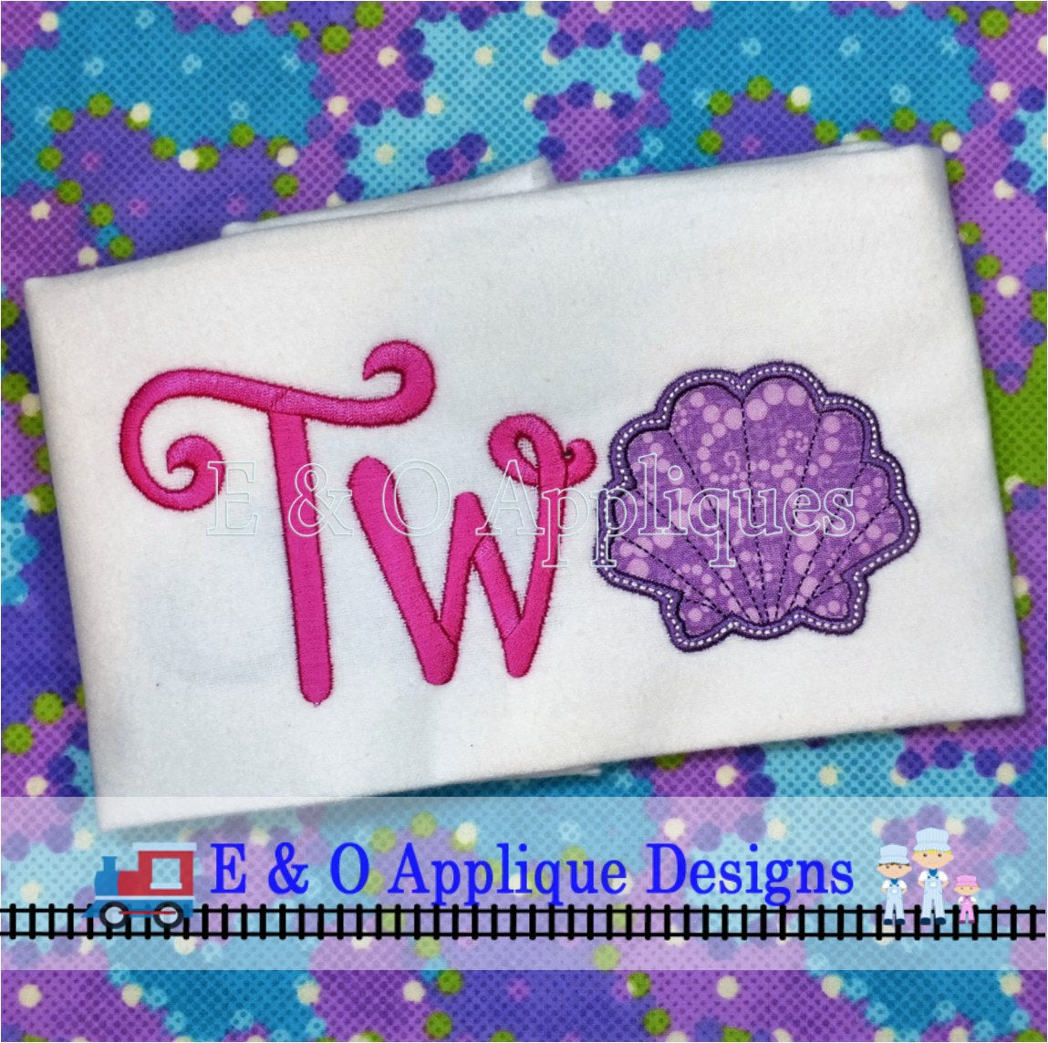 Seashell Two Digital Applique Design