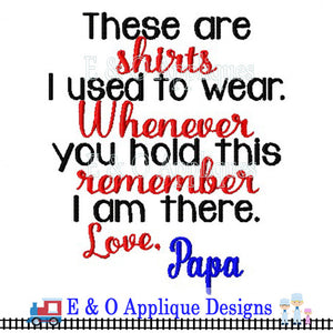 Shirts Saying Papa Digital Embroidery Design
