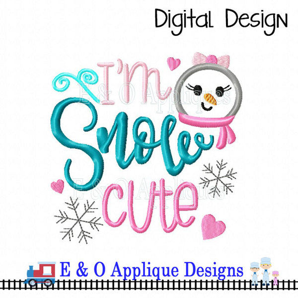 Snow Cute Embroidery Design