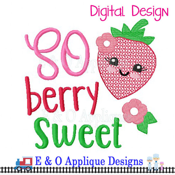 So Berry Sweet Digital Embroidery Design