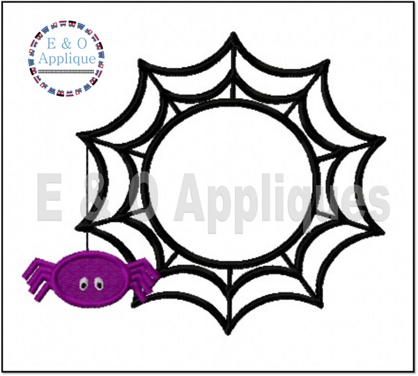 Spiderweb Monogram Frame Embroidery Design