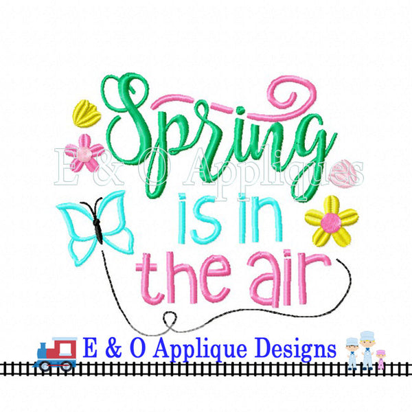 Spring Is In The Air Butterfly Digital Embroidery Design