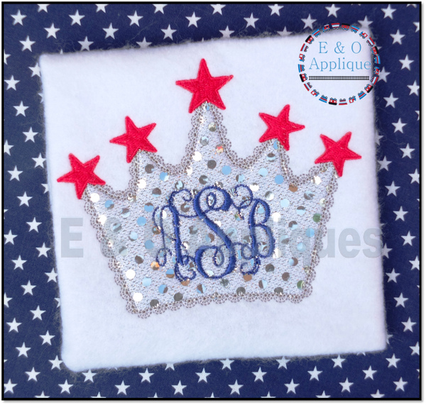Star Crown Applique Design