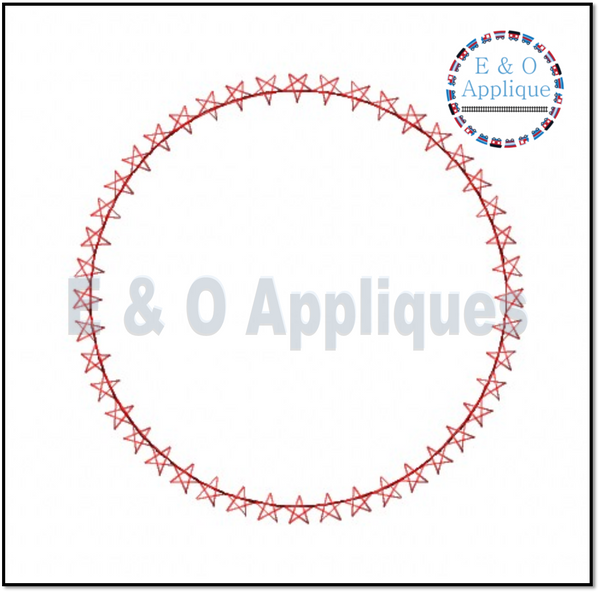 Star Monogram Frame Applique Design