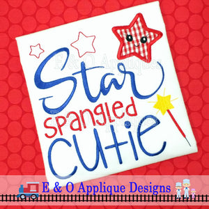 Star Spangled Cutie Applique Design