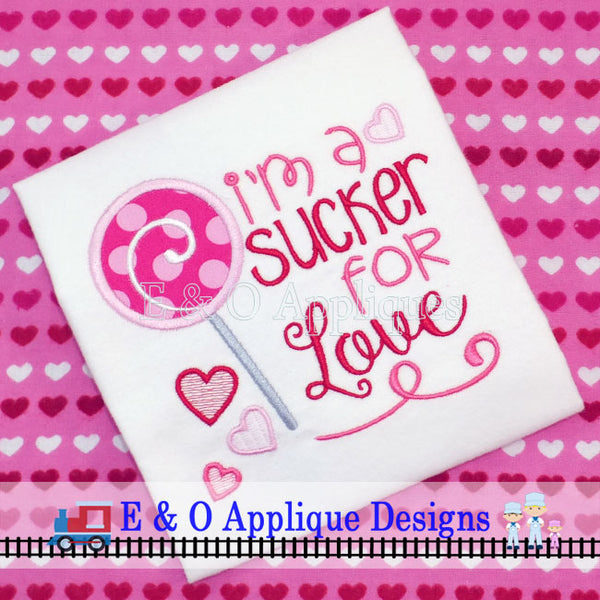 I'm a Sucker for Love Digital Embroidery Design