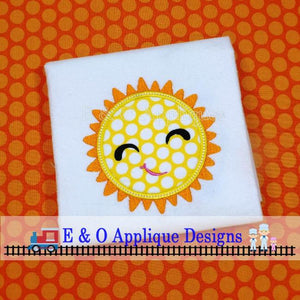 Sun Digital Applique Design
