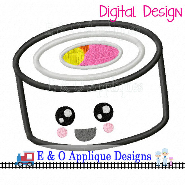 Sushi Kawaii Applique Design