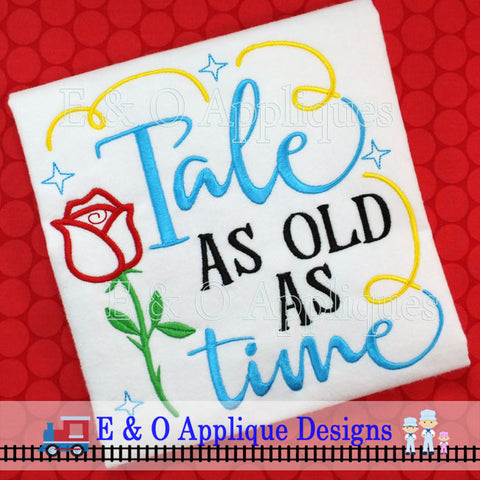 Tale As Old As Time Digital Embroidery Design