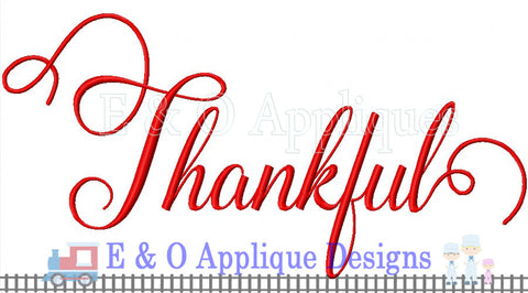 Thankful Digital Embroidery Design