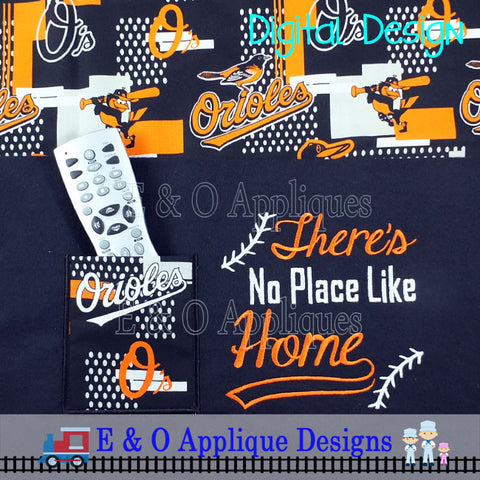 Baseball Saying ITH Remote Pocket Set Embroidery Design