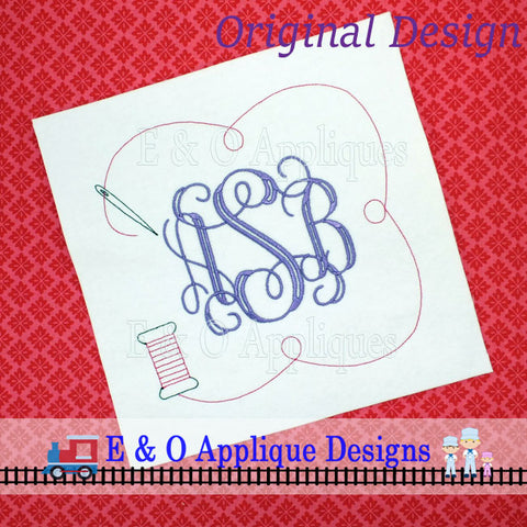 Sewing Monogram Frame Embroidery Design