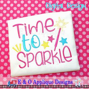 Time To Sparkle Embroidery Design