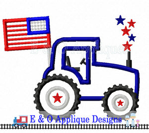 Tracktor Stars Applique Design