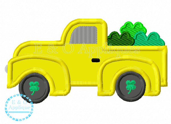 Truck Clover Applique Design