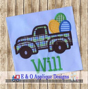Easter Truck Applique Design