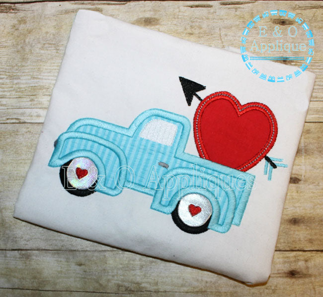 Truck Heart Applique Design