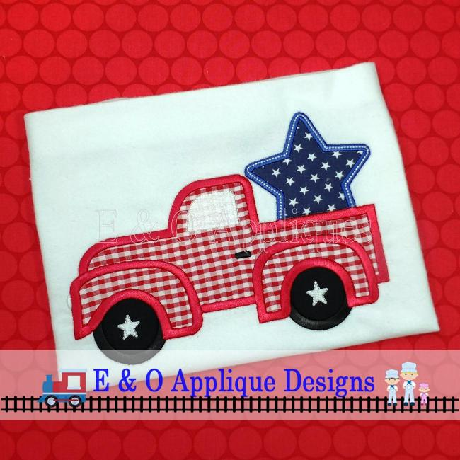 Truck Star Applique Design