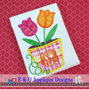 Tulips Applique Design