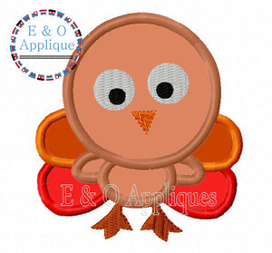 Turkey Boy Applique Design