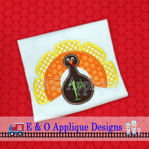 Candy Corn Turkey Applique