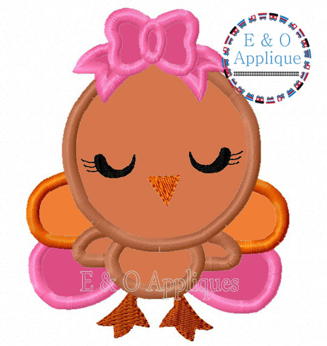 Turkey Girl Applique Design