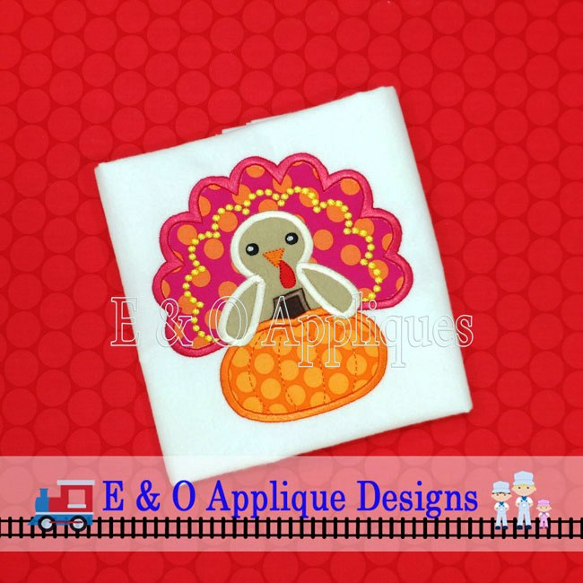Turkey Pumpkin Applique