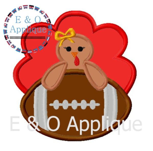 Football Turkey Girl Applique