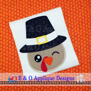 Turkey Pilgrim Applique Design