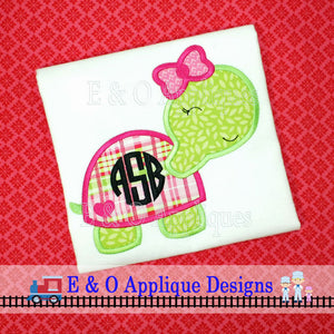Turtle Girl Applique Design