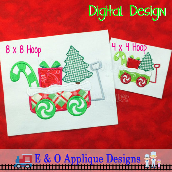 Christmas Wagon Applique