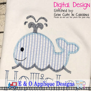 Whale Zig Zag Applique Design