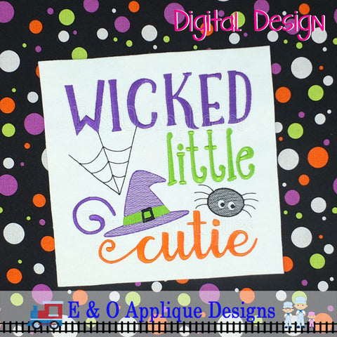 Wicked Little Cutie Embroidery