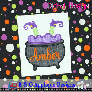 Witch Cauldron Applique Design
