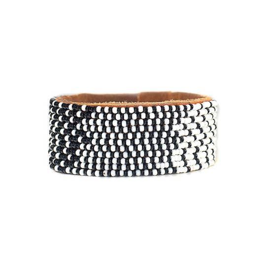 Swahili Coast - Beaded Leather Cuffs