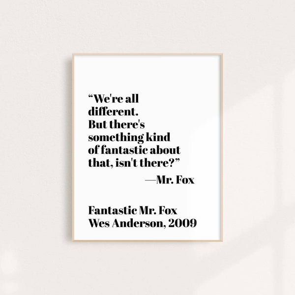 Fantastic Mr. Fox - Wall Art Print 8 x 10