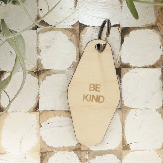 Retro Wood Keychain - Be Kind