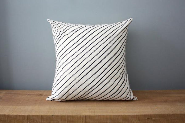 Diagonal Stripe Organic Cotton Pillow