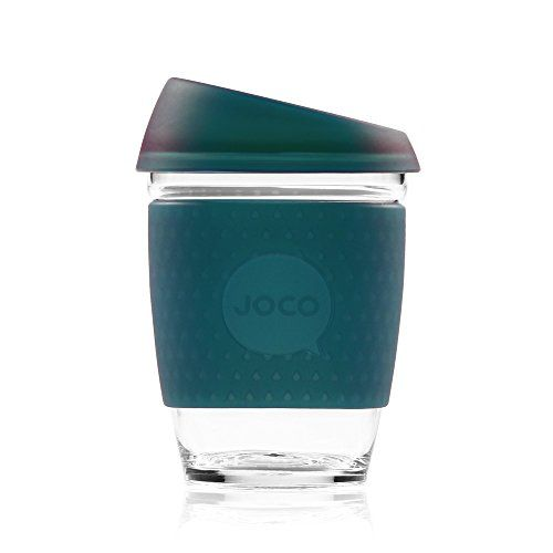 JOCO Glass Coffee Cup - Deep Teal Seaglass