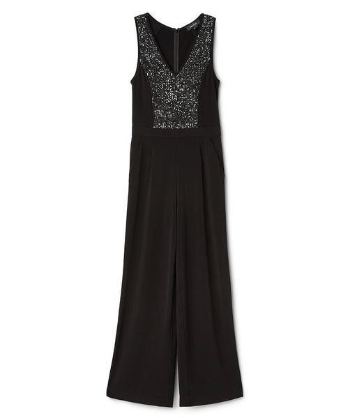 Sequin Inset Jumpsuit