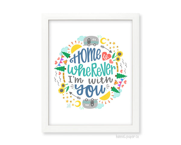 Home with You Art Print