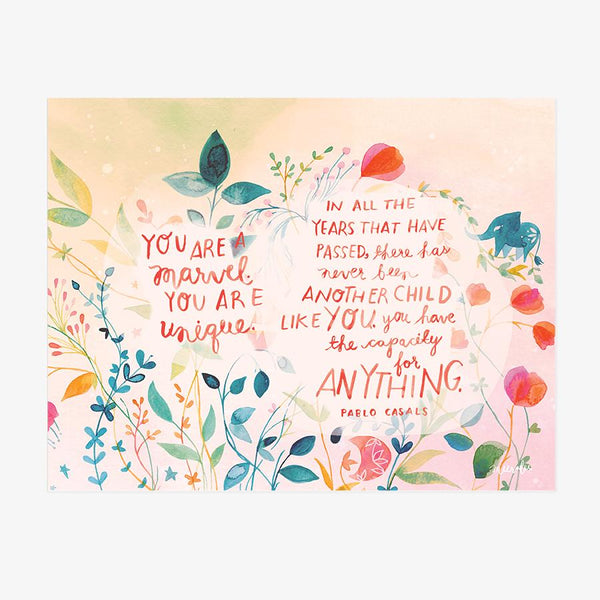 You Are a Marvel - Art Print