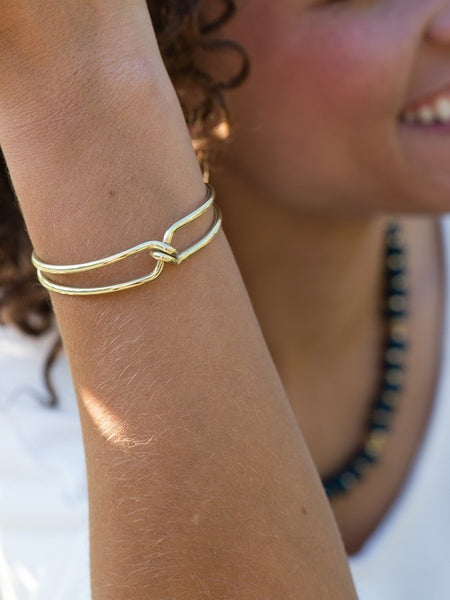 Knotted Cuff in Brass