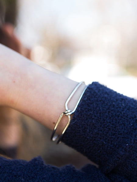 Knotted Cuff in Silver
