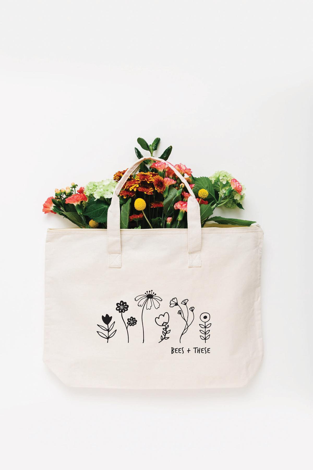 Bees + These Tote Bag - Large