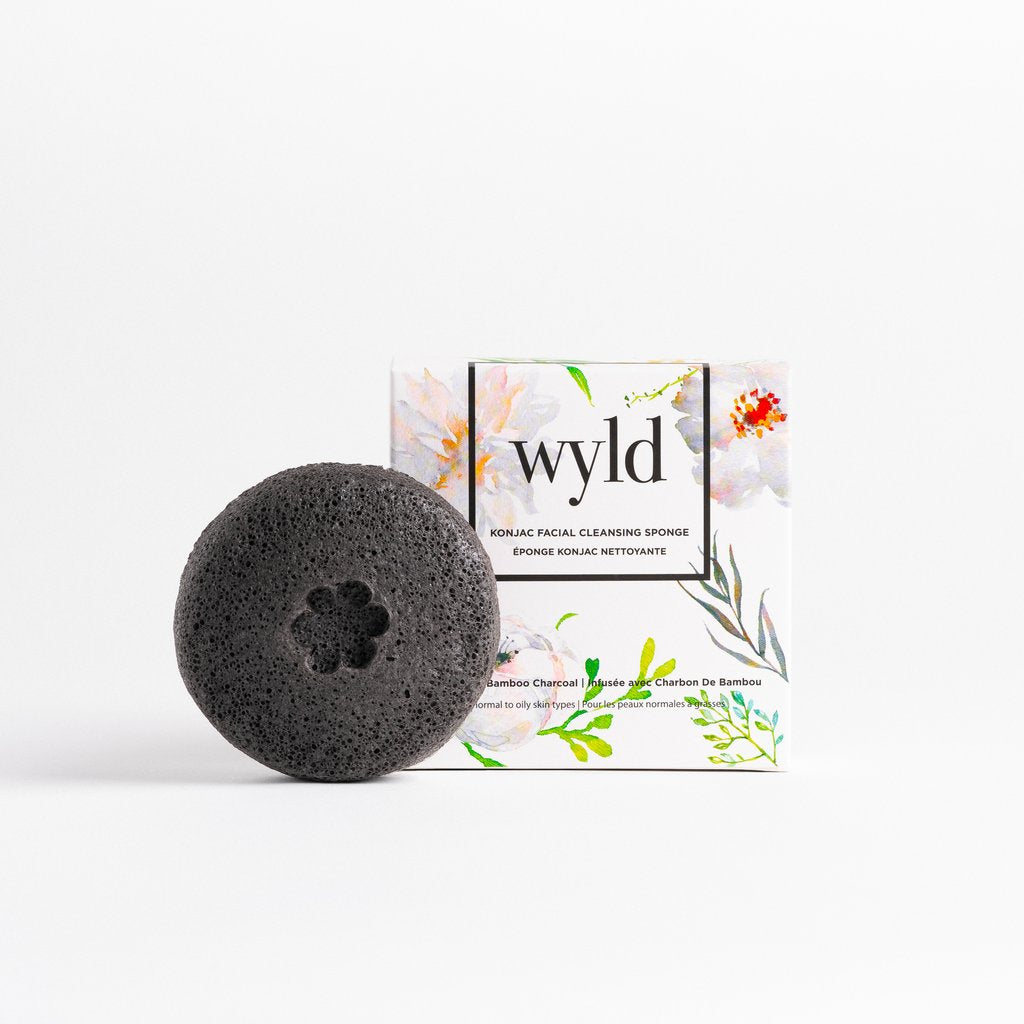 Wyld Skincare -  Charcoal Facial Sponge