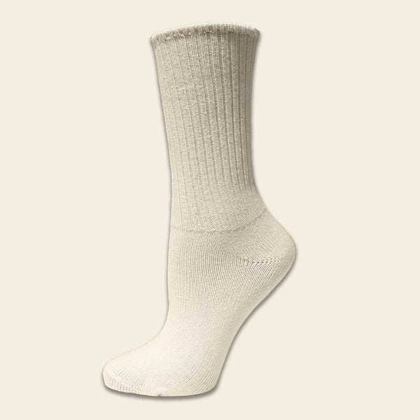 Large Organic Cotton Crew Sock - Natural